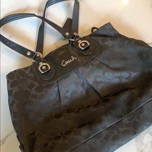 Classic black coach handbag
